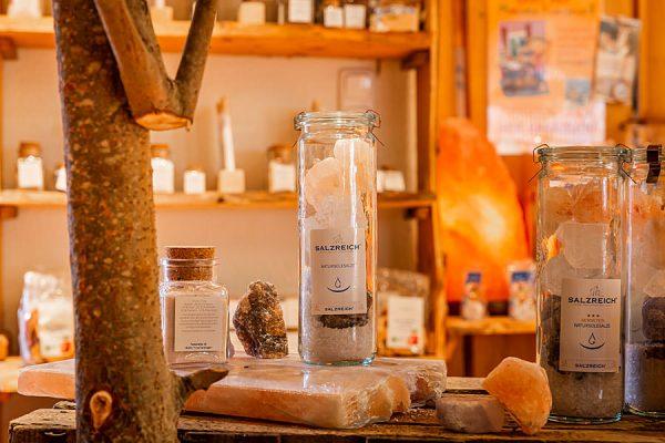 Produktauswahl vom Hofladen der Salzmanufaktur Mecklenburg-Vorpommern in Trinwillershagen