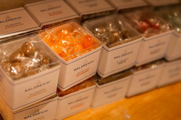 Salzbonbon kaufen im Hofladen der Salzmanufaktur MV in Trinwillershagen