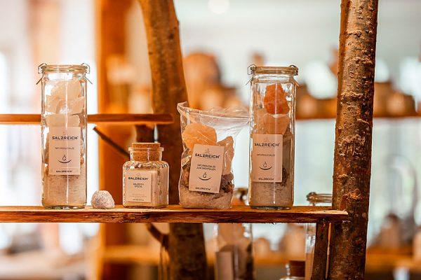 Produkte aus Salz im Hofladen der Salzmanufaktur MV in Trinwillershagen